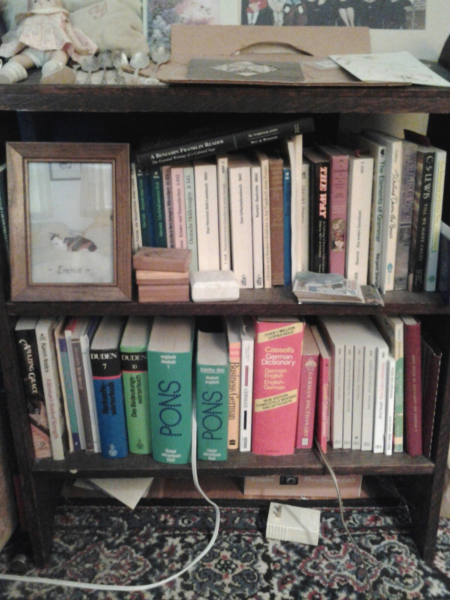 Bookshelf 5 - Ancestry, German, childhood significance