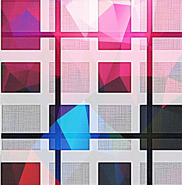 Grid pattern with red and blue and gray and black