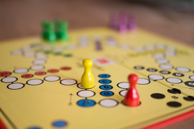 board game with pieces