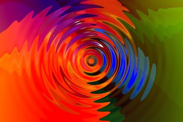 vibration concentric circles of different colors