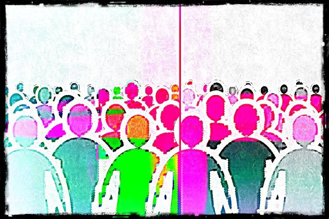 outlines of people in different colors
