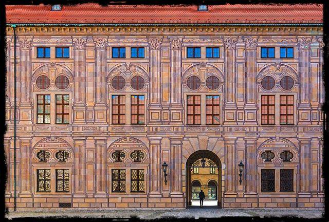 trompe loeil facade on a building